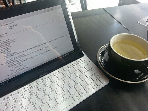 Writing and Tea